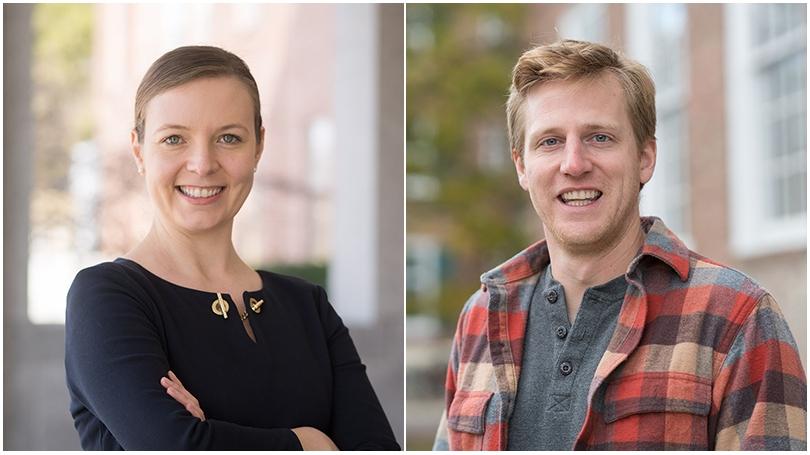 Assistant Professor of Chemistry Katherine Mirica and economist Treb Allen